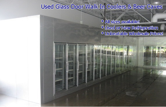 glass door display walk in coolers