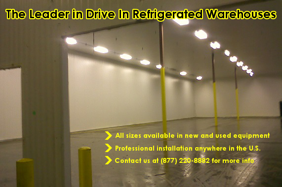 drive in refrigerated warehouse coolers