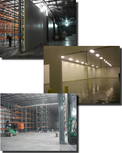 drive in refrigerated warehouse coolers and freezers